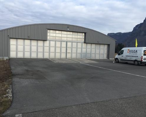 Schiebetor am Flugplatz in Hohenems